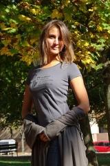 Exkluzívne dravčiarske tričko dámske antracitové