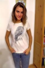 Férové tričko s kuvičkom pre dámy