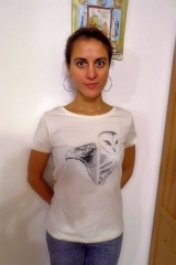Férové tričko sova a orol dámske